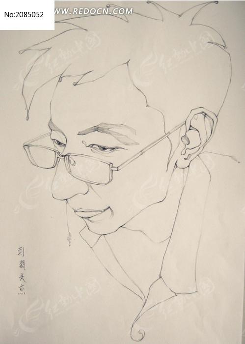 标签:漫像人物头部速写男生眼镜