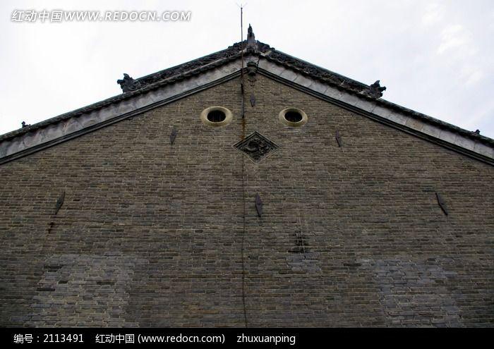 寺庙山墙结构图片