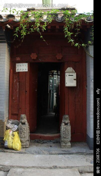 北京胡同门图片_建筑摄影图片