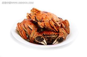 一盘油卤蟹