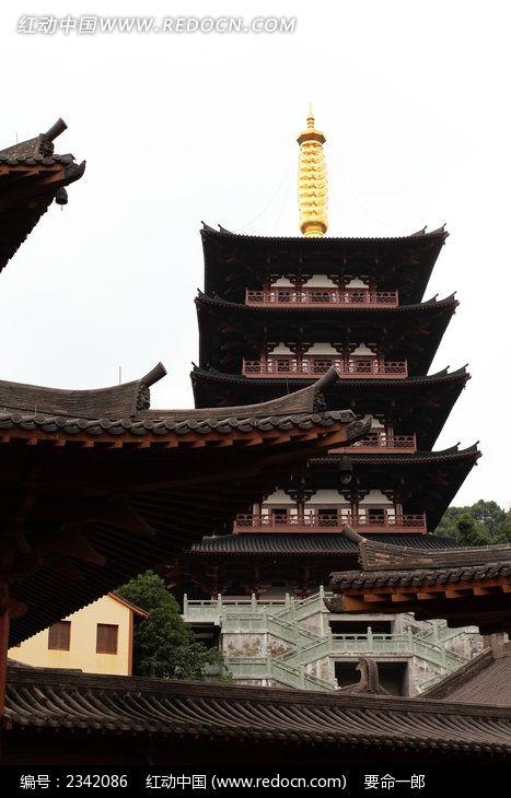 护国寺之宝塔图片_建筑摄影图片
