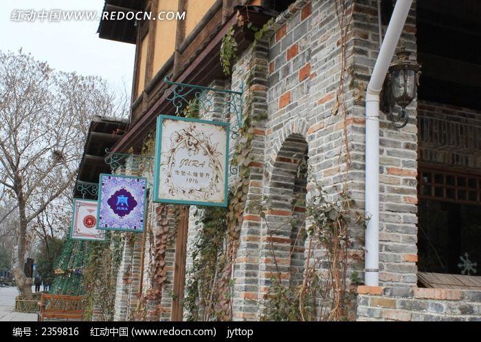 欧式建筑外墙灯箱图片