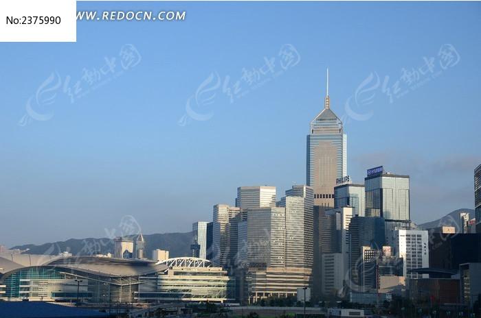 香港会展中心建筑群远景