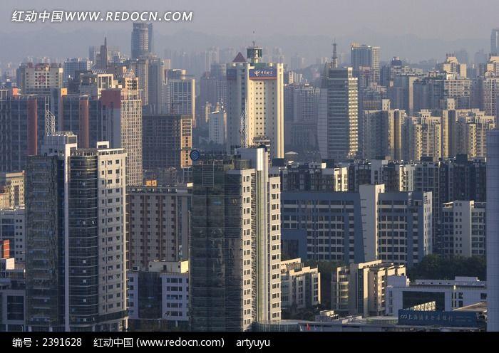 高樓林立的重慶北部新區圖片