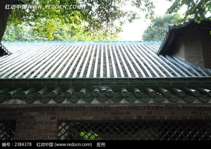 中山大学古建筑琉璃瓦屋顶图片