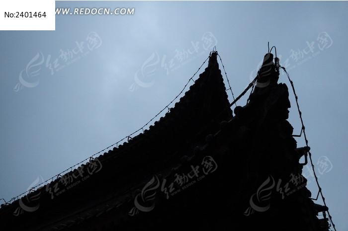 古城飞檐剪影图片图片