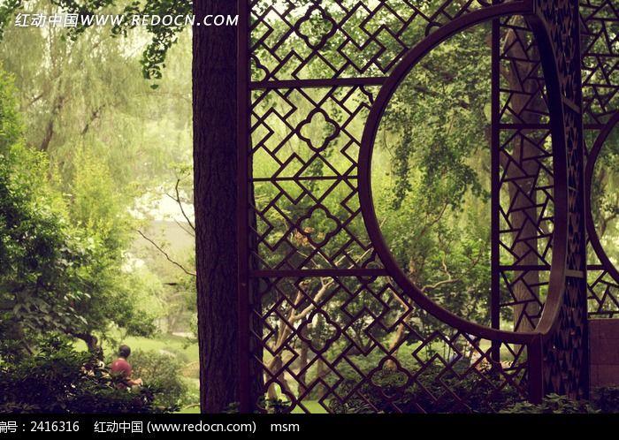 原创摄影图 建筑摄影 园林景观 苏州拙政园屏风窗格