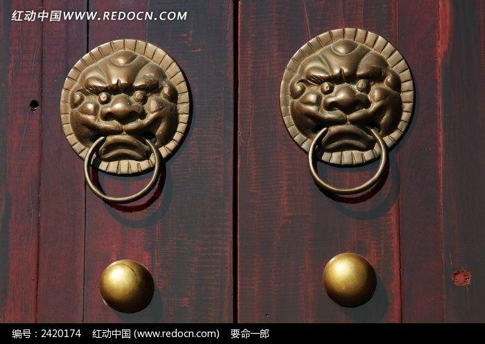 大门铜环神兽狴犴图片素材下载(编号:2420174)