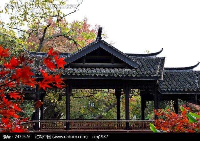 红梅公园古代亭子图片