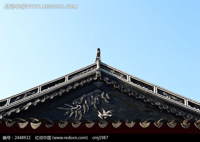 东坡公园里的三角屋顶图片