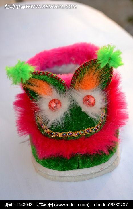 宝宝鞋 粉绿色 美观 猫头