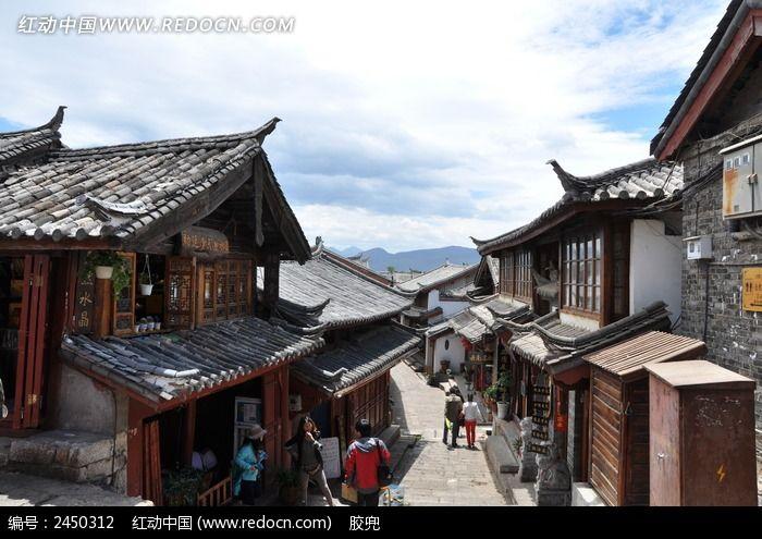 丽江古城的建筑风景