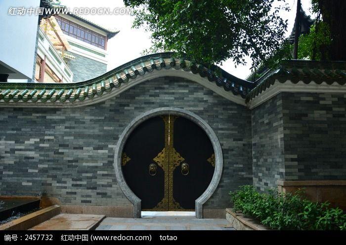 广州南园的圆形拱门高清图片下载_红动网