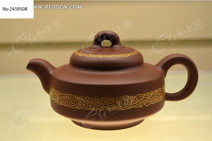 博物馆的茶壶碧玉图片