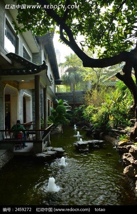 广州南园酒家的庭院高清图片下载_红动网