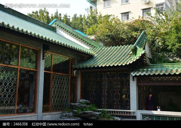 广州南园酒家的青砖瓦建筑高清图片下载_红动网