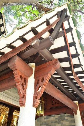 广州南园酒家的木结构建筑