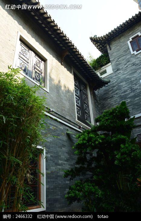广州南园酒家的青砖建筑高清图片下载_红动网