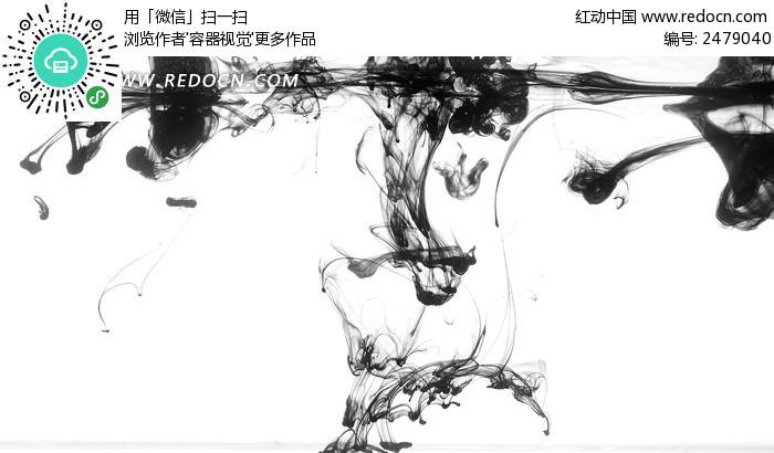 滴入水中的墨汁背景图片