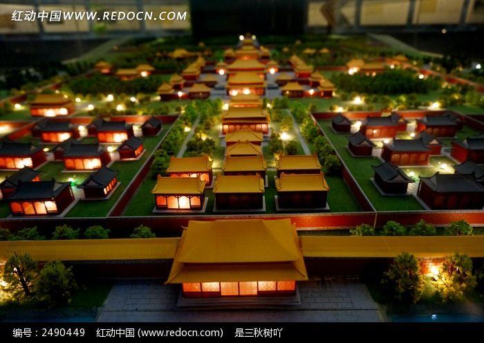中国古代宫殿模型图片