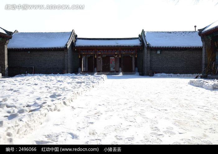 哈尔滨道台府冬季雪景