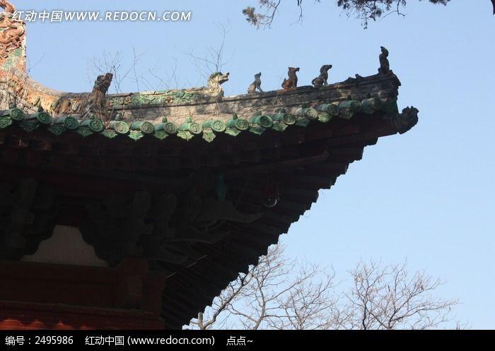 少林寺古建筑屋檐图片