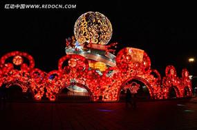 喜庆球形大型花灯