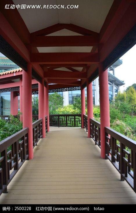 广州珠岛宾馆红色长廊图片素材下载(编号:2500228)