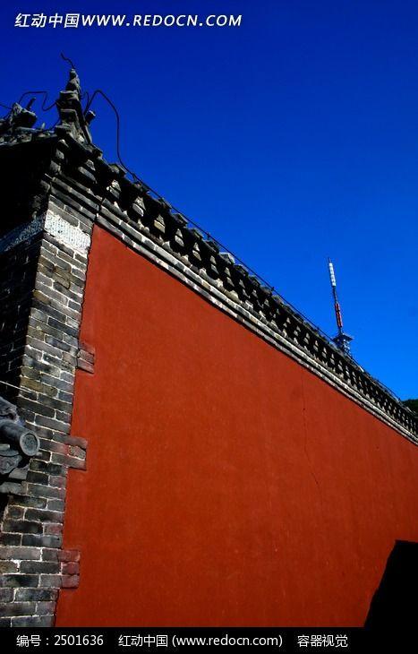 泰山古建筑墙体图片