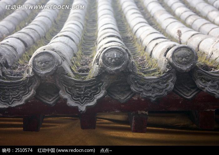 瓦当 屋檐 瓦片 雕刻 石雕 雕刻艺术 传统工艺 传统花纹 传统图案图片