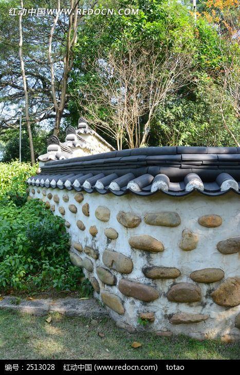 石头围墙图片,高清大图