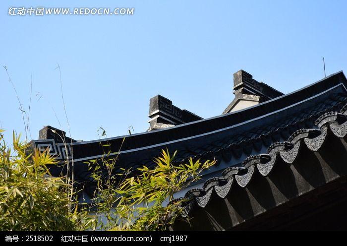 古典的屋檐图片