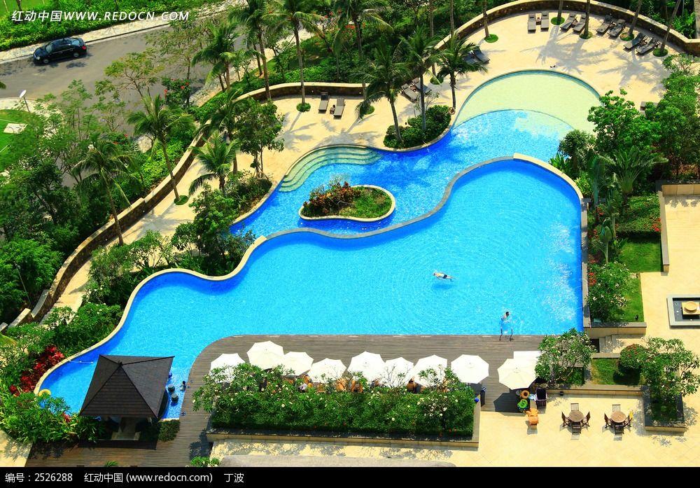 半山半岛小区游泳池图片,高清大图_住宅区素材