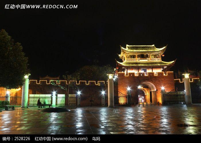 凤凰广场夜景图片