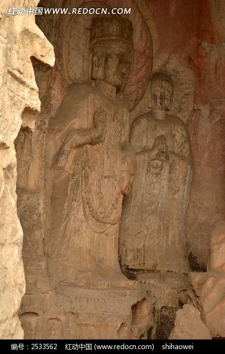 龙门石窟石刻佛像侧拍高清图片下载 编号2533562 红动网