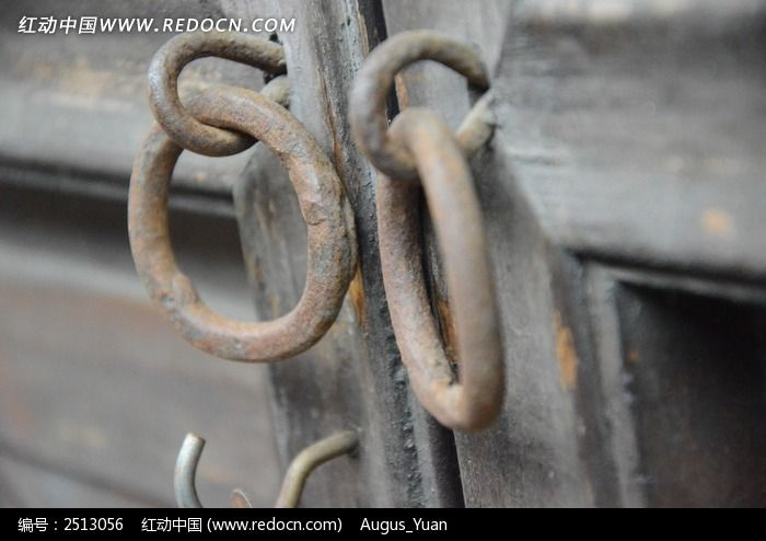 木门铁环图片