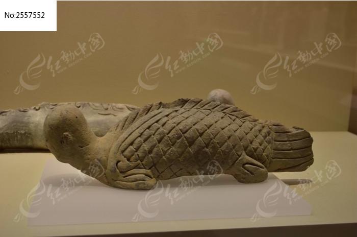 人形鱼身陶瓷雕刻图片