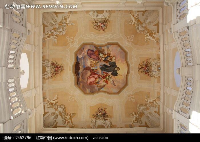 欧式壁画 米色 手绘油画
