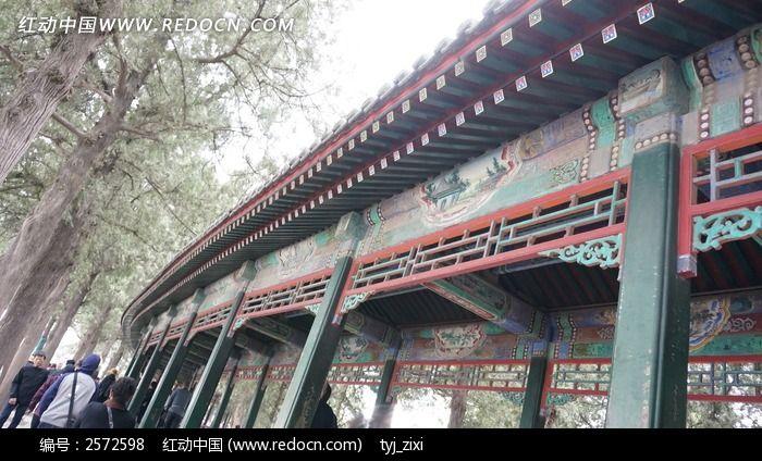 颐和园长廊图片_建筑摄影图片