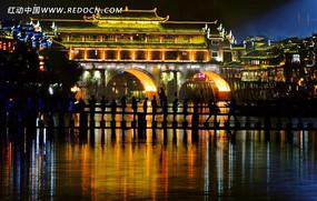 凤凰虹桥夜景