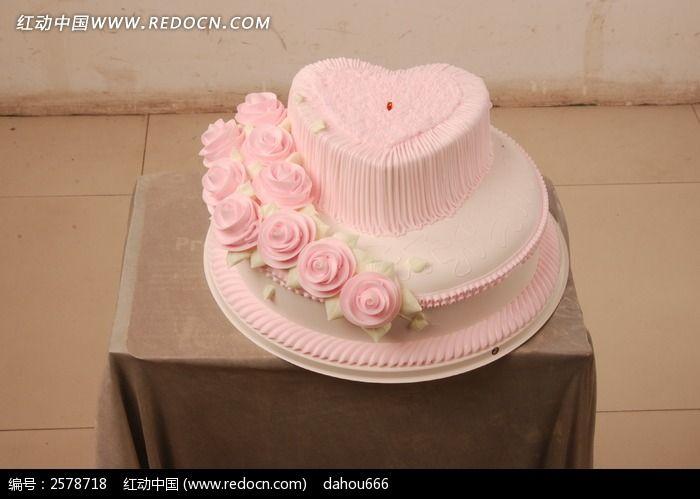 桃心生日蛋糕图片
