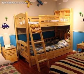 儿童高低双人床