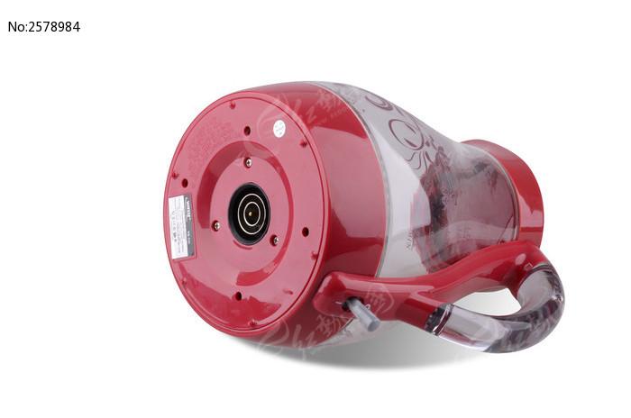 红色玻璃电热水壶底部特写图片素材下载