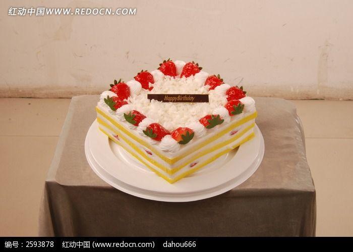 奶油草莓生日蛋糕