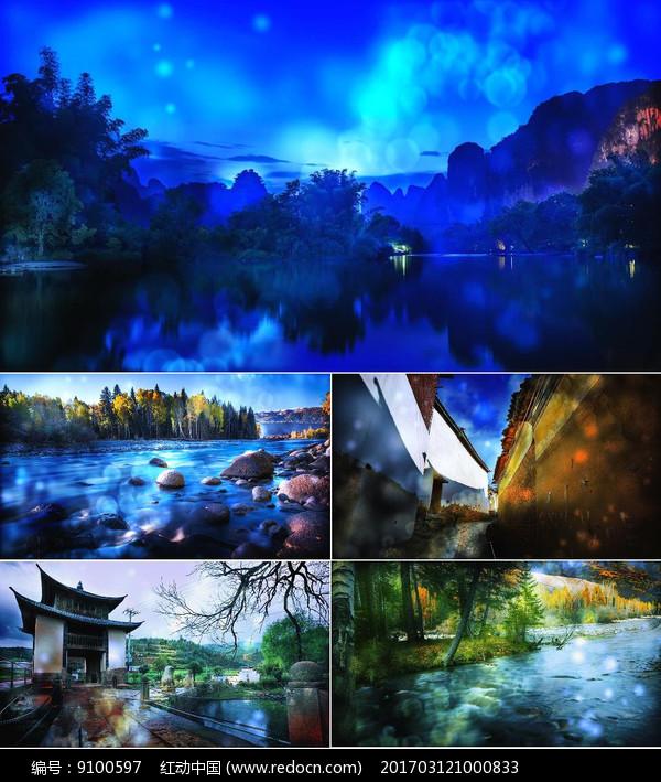 课件淌水少儿舞台美术小河创意视频背景网图片