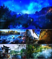 小河淌水舞台背景视频