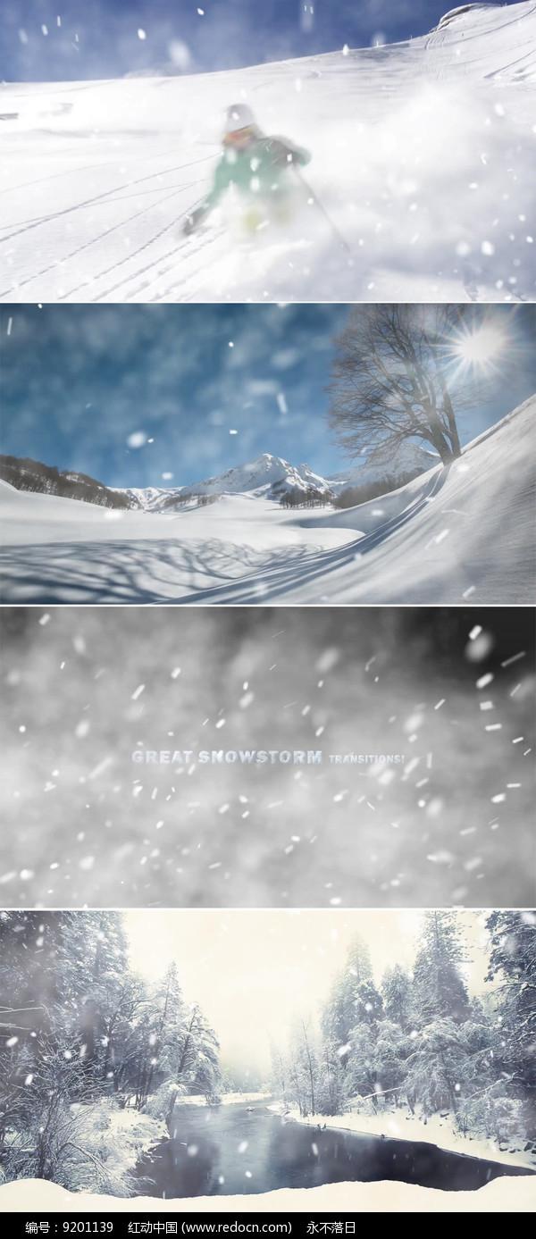 动态雪花转场视频 图片