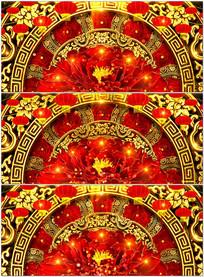 喜庆新年晚会歌舞背景