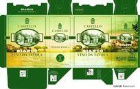 意大利干白葡萄酒3L包装盒设计展开图