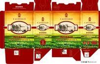 意大利干红葡萄酒3L包装展开图